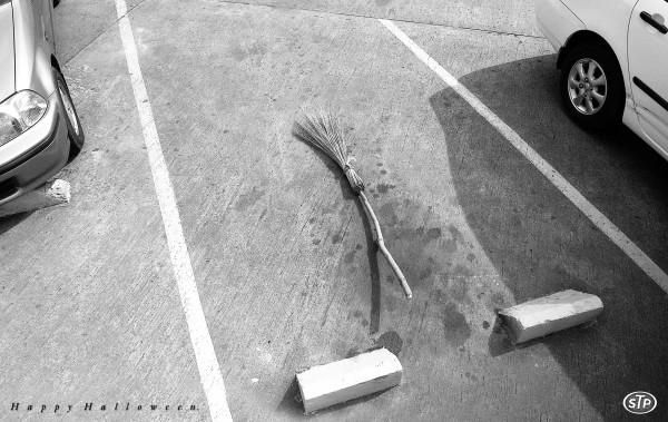 broomstick parking at the store :)