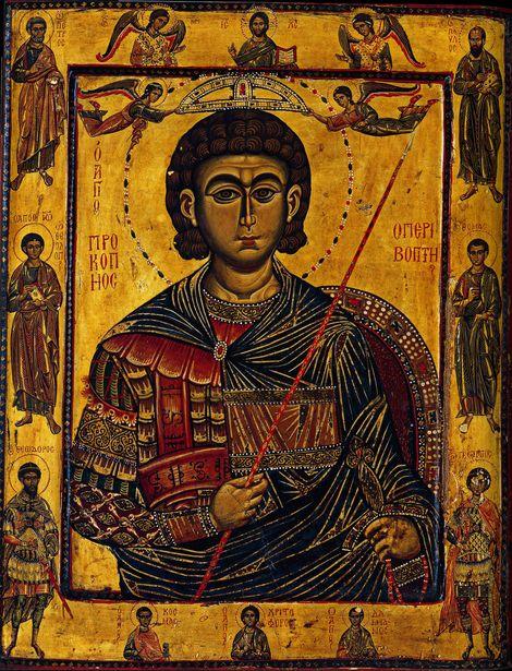 св. вмч. Прокопий Кесарийский,( диптих); XIII