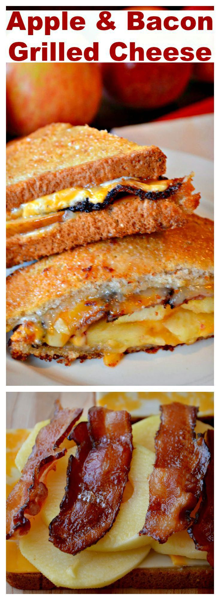 Apple & Bacon Grilled Cheese - Are you ready for Fall and Apples?  I love this Apple & Bacon Grilled Cheese.  It is one of the best sandwiches I have ever had.  The sauce is perfect.