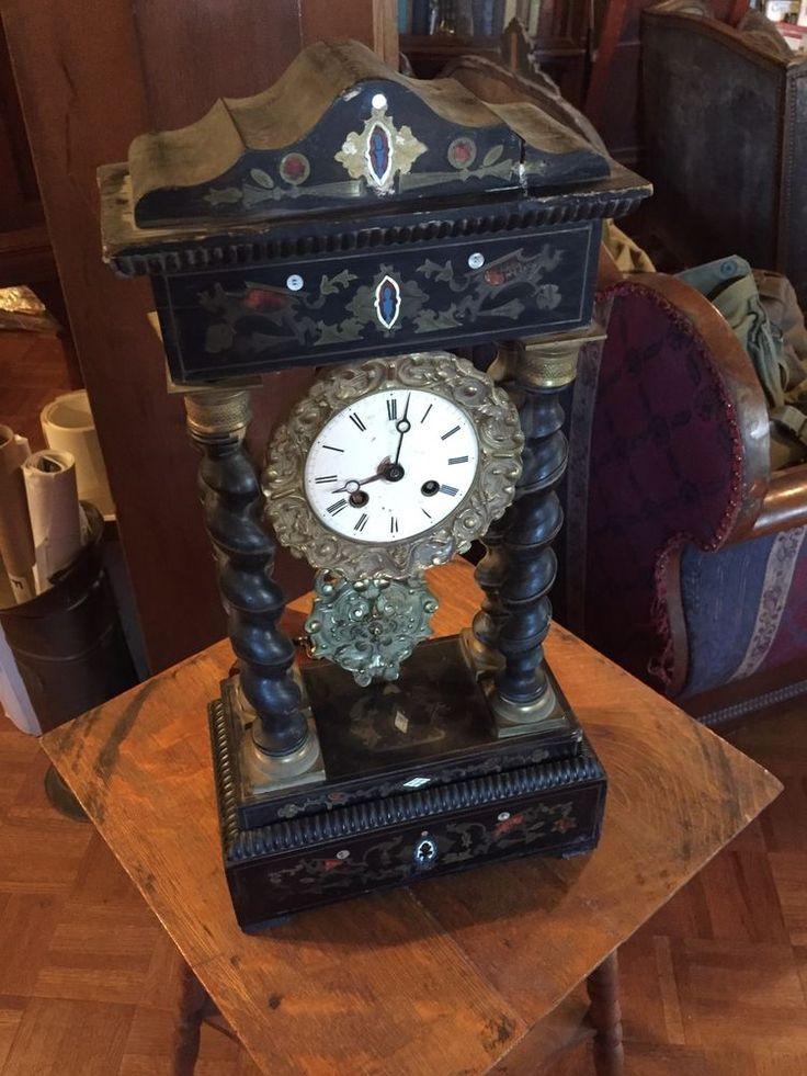 Antique Mantel Clock, French Napoleon lll Period. 1860s. #NapoleonIII #Unknown