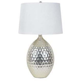 Elegant Decor Therapy Silver Hammered Ceramic Table Lamp   Make A Statement In Any  Room With The Decor Therapy Silver Hammered Ceramic Table Lamp U0027s Neutral  Design ...