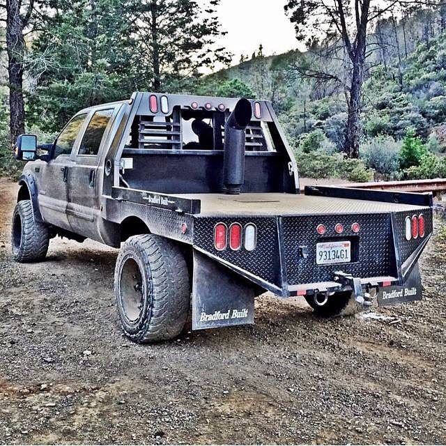 """Would like to do a flatbed. 8-10"""" walls, bed liner, double stacks"""