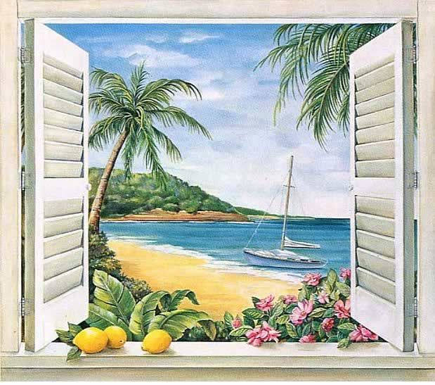 for Beach view wall mural