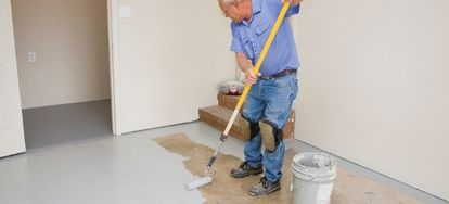 Consider one of these options to finish your concrete basement floor.
