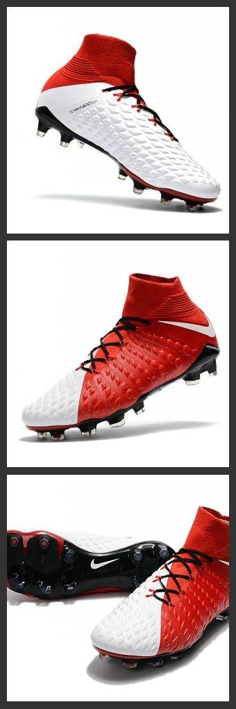 le scarpe da calcio hypervenom 2017 Uomo Nike Hypervenom Phantom III DF FG Rosso Bianco