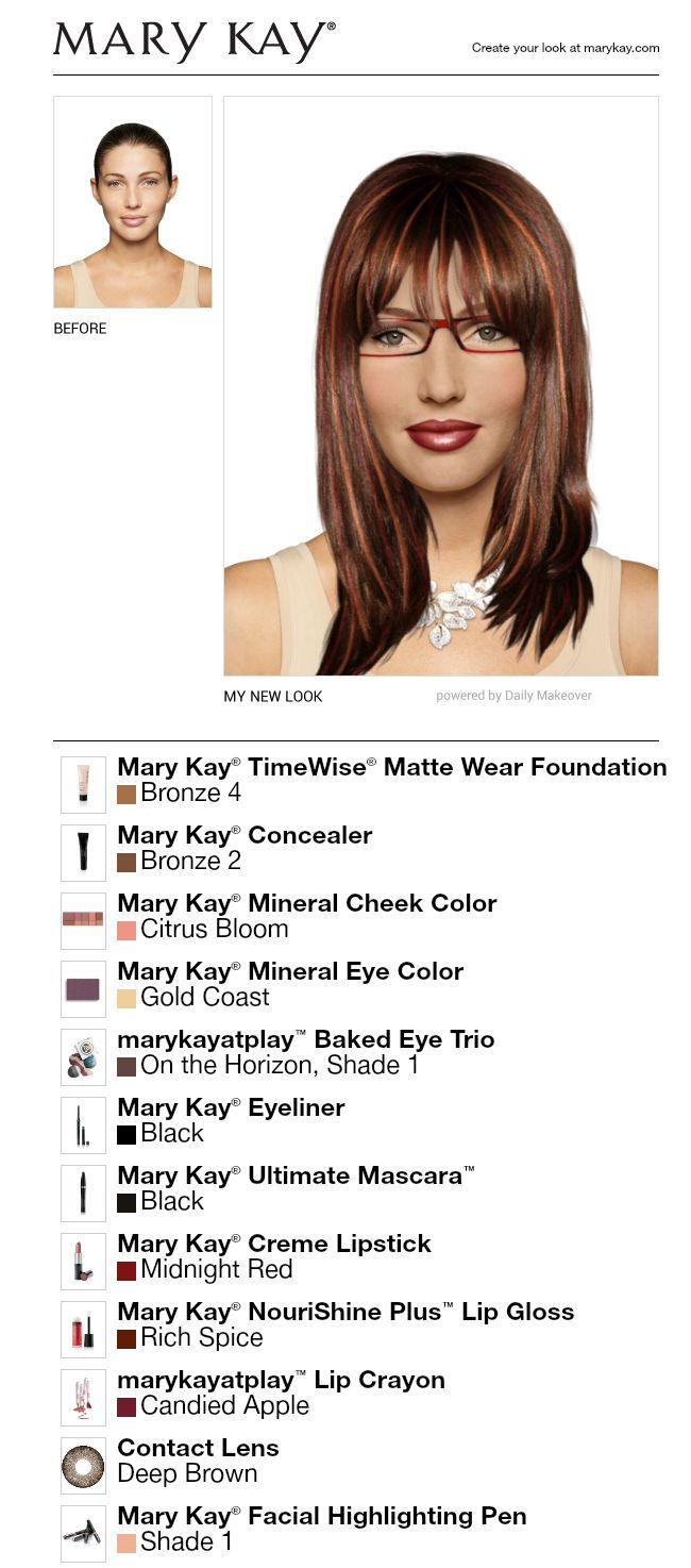 I Just Got A Great New Look Using The FREE Mary Kay® Virtual Makeover.