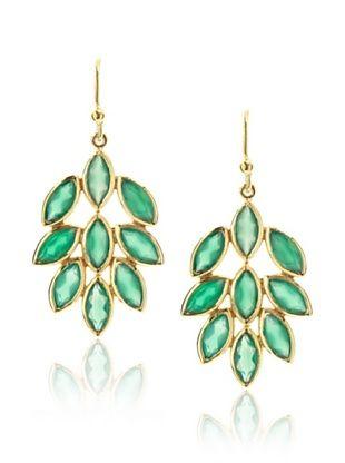 Eddera Louise Green Onyx Earrings
