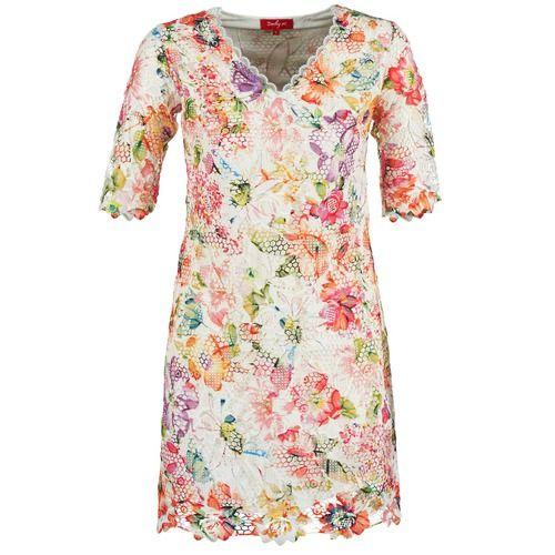 Derhy EBULLITION ECRU - Δωρεάν Αποστολή στο Spartoo.gr ! - Υφασμάτινα Κοντά Φορέματα Woman 108,80 €