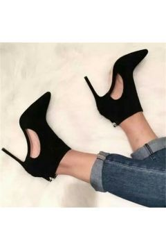 Cateline Siyah Süet Stiletto