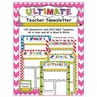 The ULTIMATE Teacher Newsletter has 120 color and black  white newsletters with EDITABLE templates. You can change the font, the font size, an...