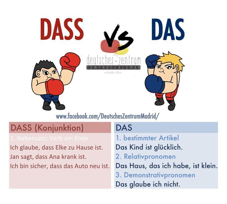 DASS vs DAS Deutsch Wortschatz Grammatik Alemán German DAF