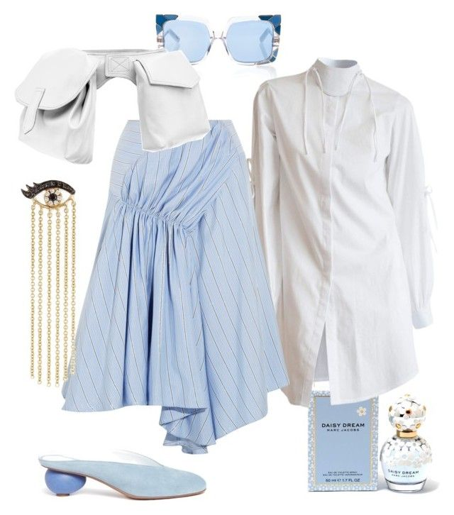 """""""bleu & white"""" by constantinerenakossy on Polyvore featuring Marc Jacobs, Pared, J.W. Anderson, Gray Matters, Marni, Sydney Evan and Constantine/Renakossy"""