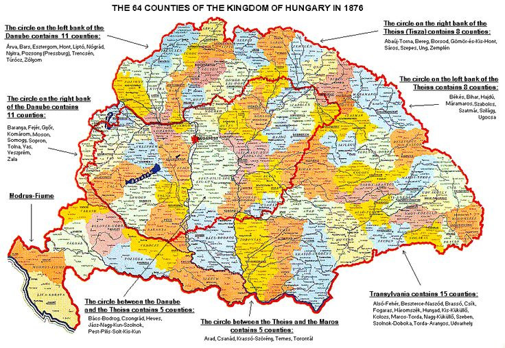 [The 64 counties of Hungary, 1876]