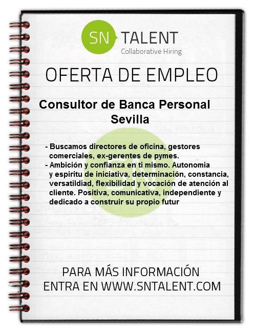 #Consultor de Banca Personal en #Sevilla