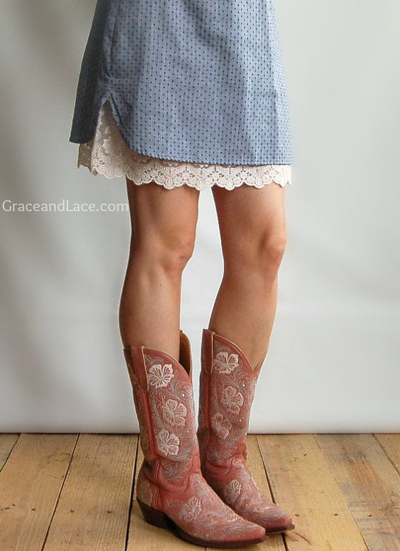 Ohh La La Lace Skirt Extender - I think this would be super cute if you have any skirts that are too short.