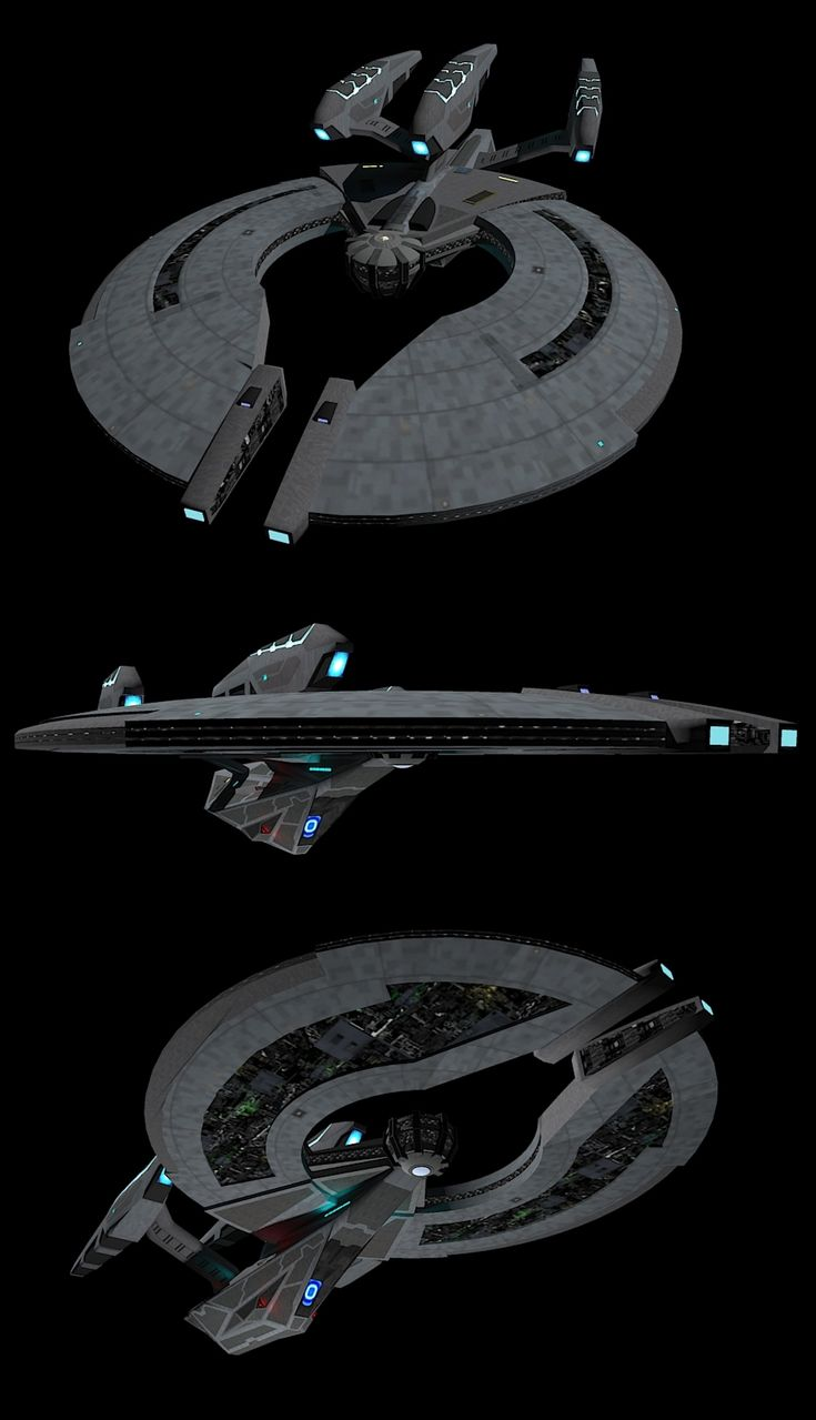 Federation Dreadnought Angled views by calamitySi.deviantart.com on @deviantART