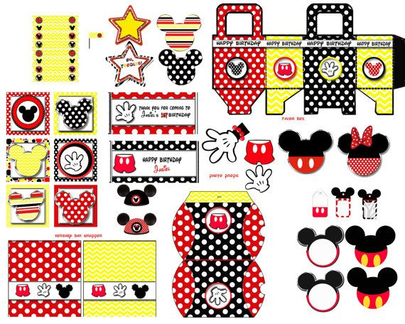 Mickey Mouse Party kit Mickey mouse Birthday di blueangeldigitals