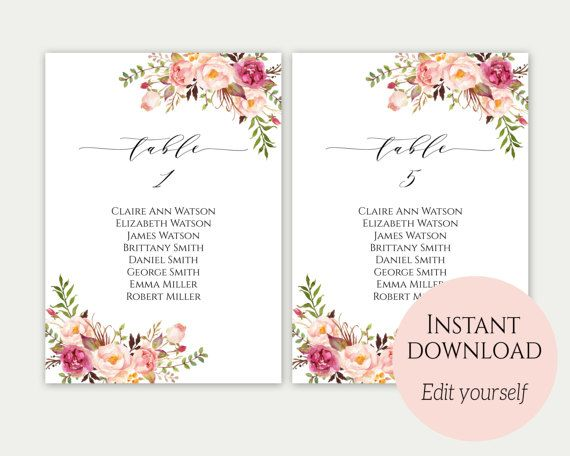 20 best tea party baby shower images on pinterest tea for Bridal shower seating chart template