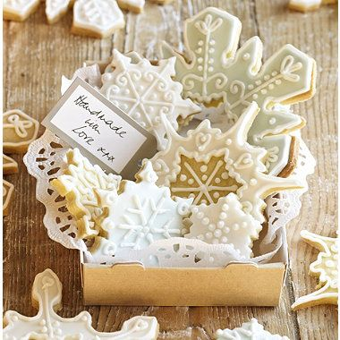 It would be fun to make some salt dough snowflakes for the tree using these as well.