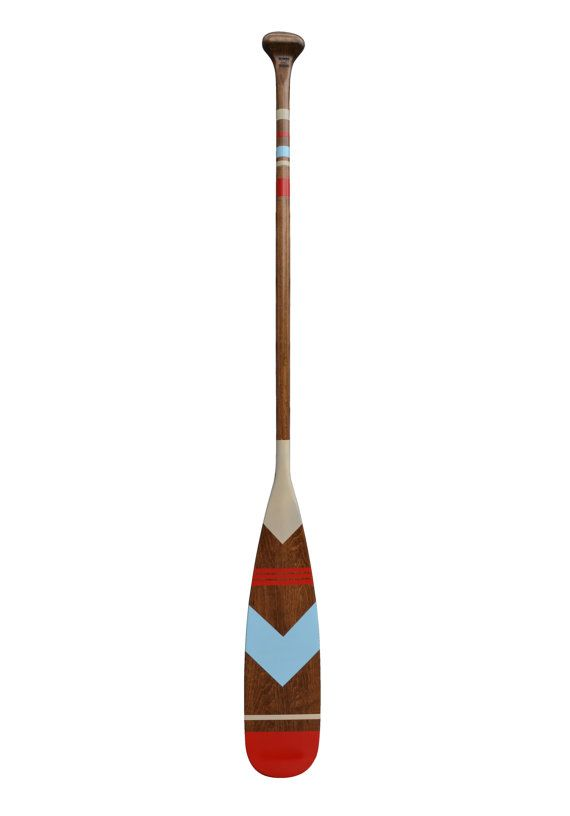Canoe Paddle , nautical decoration accessories, hand painted canoe paddle