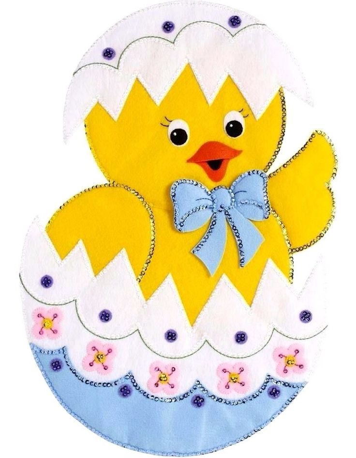 Bucilla Felt Applique Wall Hanging Kit 15 x 22 in. ~ EASTER CHICK #86758 Sale 46109867588 | eBay