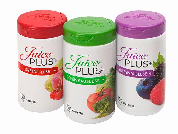 Juice PLUS+® Premium capsulas Un trío poderoso Las cápsulas de Juice PLUS+ Premium contienen una amplia gama de metabolitos secundarios naturales. Sus ingredientes naturales están derivados de 27 tipos diferentes de frutas, verduras y bayas.  http://www.juiceplus.es/+cr02296