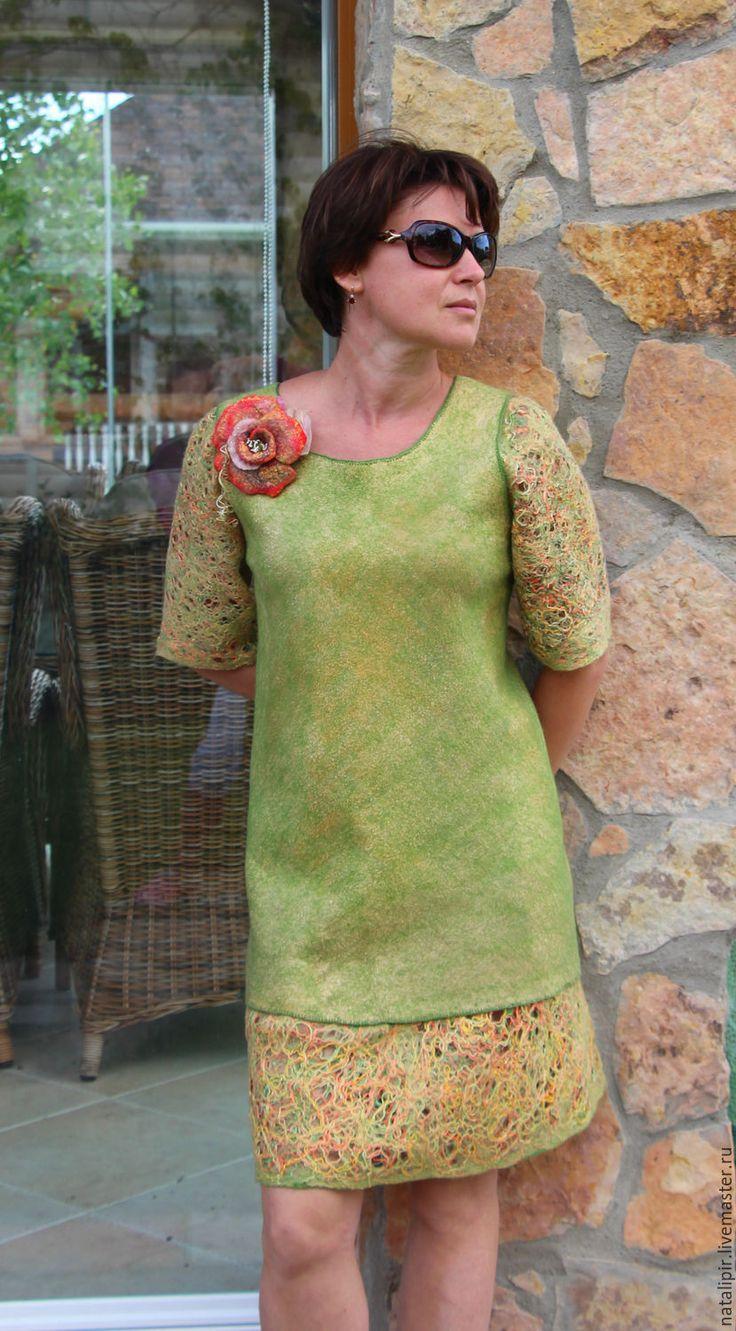 Купить Весна - Платье нарядное, платье вечернее, валяние из шерсти, подарок подруге, оригинальный подарок