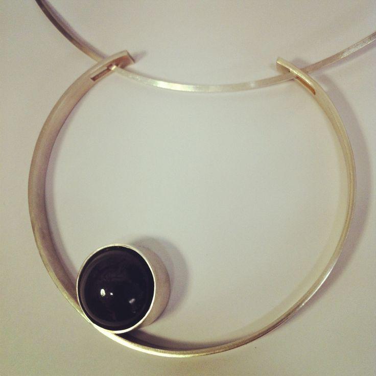 Sterling and smoky quartz pendant. heidiabrahamson.com