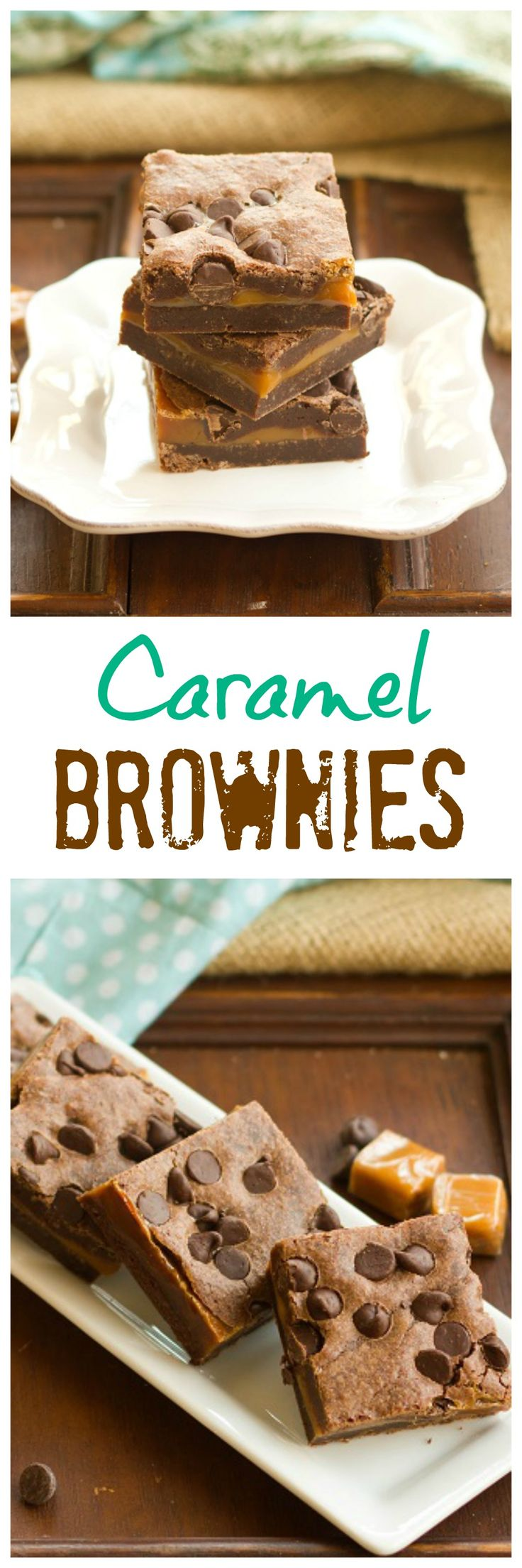 Caramel Brownies | A decadent treat for you chocolate-caramel lovers! @lizzydo