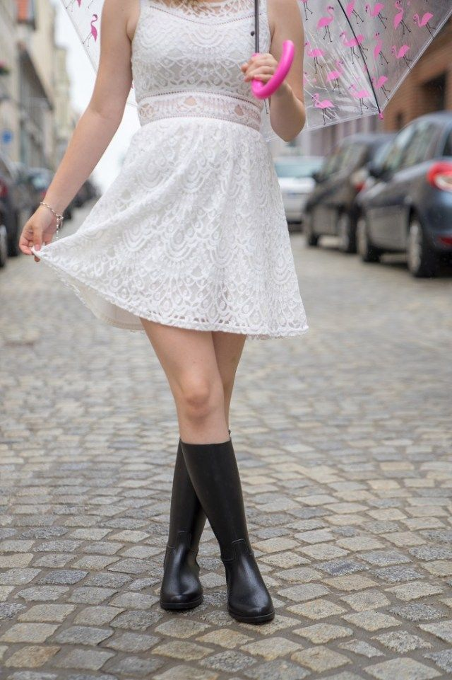 Berühmte Wasserdichte Gummistiefel Frauen Neue Mode Regen