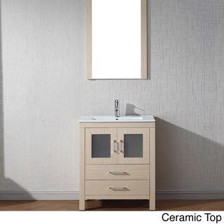Virtu USA Dior 28 Inch Single Sink Vanity Set In Light Oak By VIRTU USA