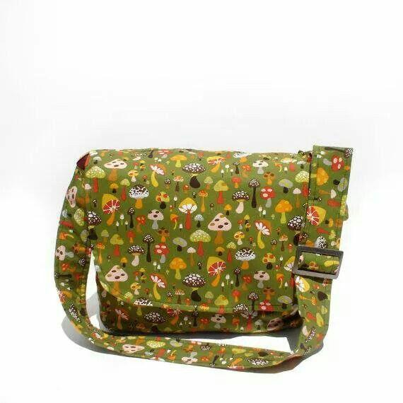 Wild Mushroom Messenger Bag - Plus Size - Curvy Fashion - Bold - Unique - Renegade