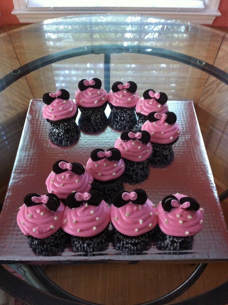 minnie mouse birthday ideas | Minnie mouse cupcakes