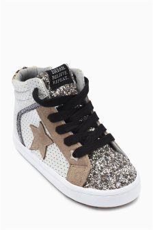Silver Star Hi Tops (Younger Girls)
