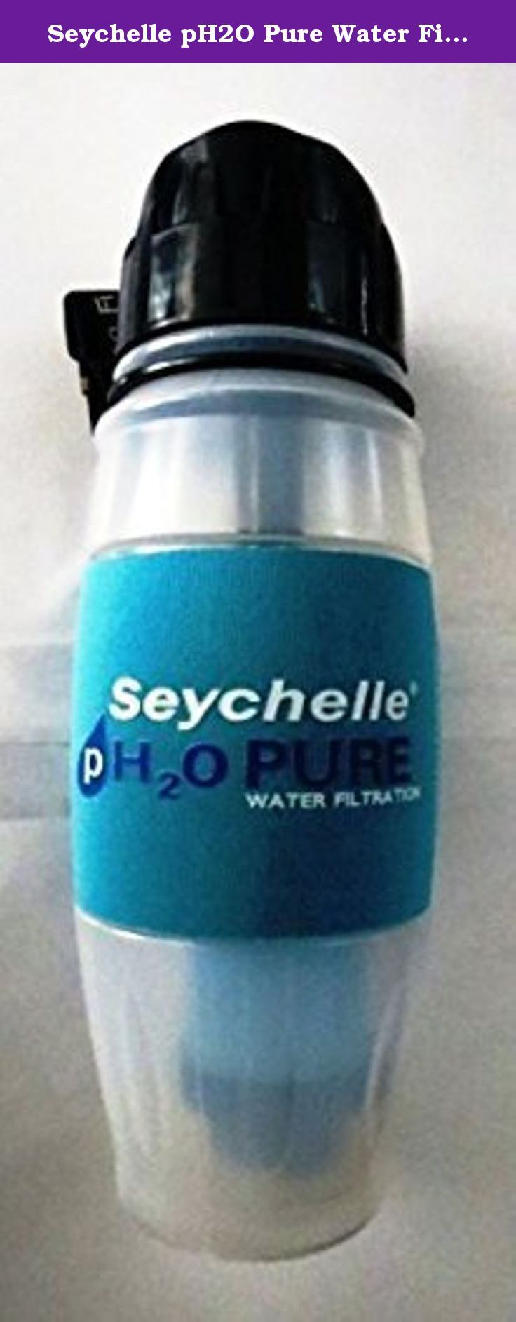 Seychelle pH2O Pure Water Filtration Bottle with Alkaline (pH Enhanced) Filter 28oz. The Seychelle pH2O Pure Water Filtration Bottle increases the alkalinity (pH) of drinking water up to 9.5 pH. The pH2O filter is designed to be used as a drinking water filter for use with municipal water, as a bottled water replacement, and for those who value the benefits of alkaline filtered water. It also removes up to 99.99% of toxic chemicals, contaminants, and pollutants found in fresh water…