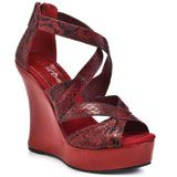 Too Slither - Red, 2 Lips Too, $46.74 FREE 2nd Day Shipping!: Inspired Wedges, Slither Red, Lips, Pumps, Lime, Heels Com
