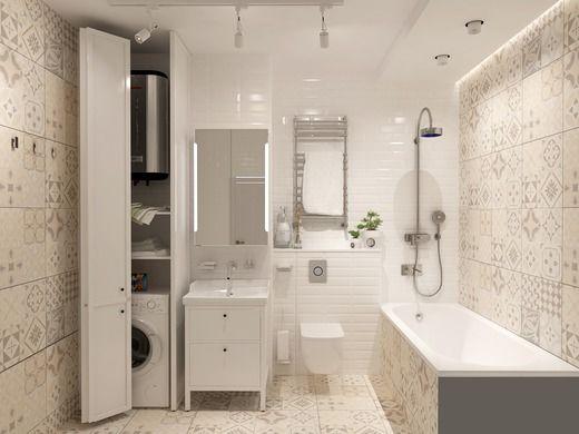 Дизайн интерьера ванной комнаты по ул. Липовый парк, пос. Коммунарка в г. Москве. Ванная