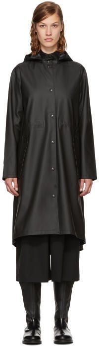 Stutterheim Black Mariefred Raincoat