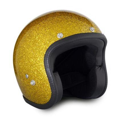 70s gold metalflakes helmet
