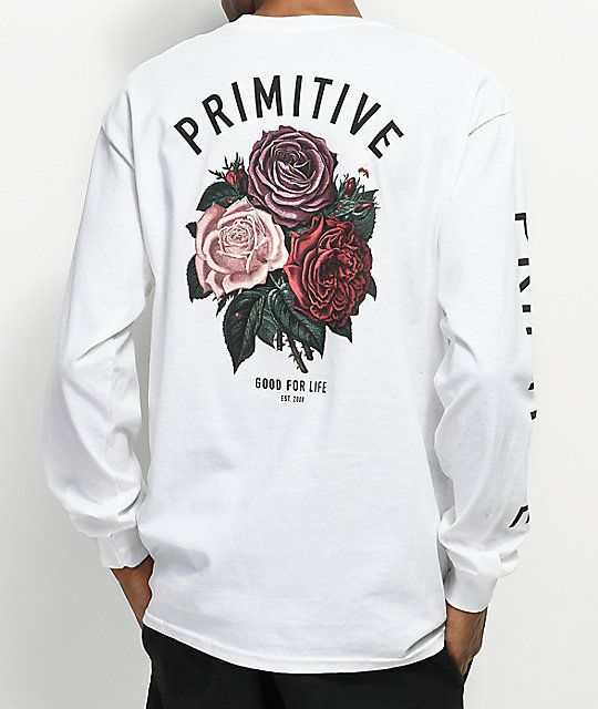 f238b6a3 Primitive Bloom White Long Sleeve T-Shirt in 2019 | Outfit | Shirts ...