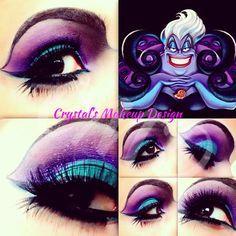 Ursula eye makeup tutorial #Halloween #costume