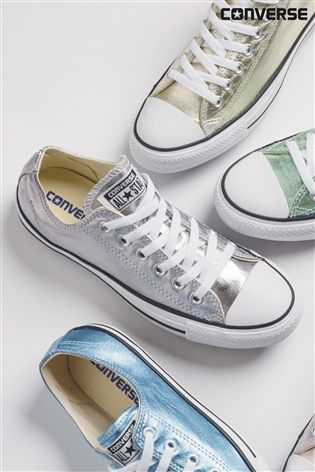 Buy Converse Metallic Grey Chuck Taylor All Star from the Next UK online shop
