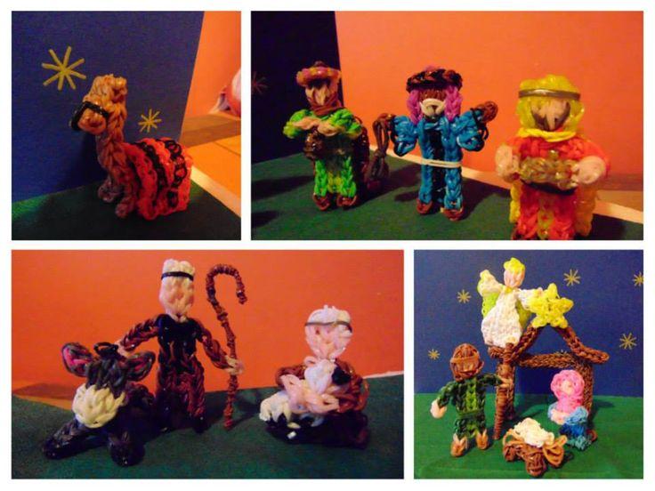 rainbow loom nativity series