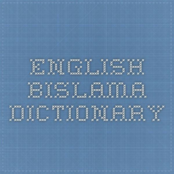 English--Bislama Dictionary