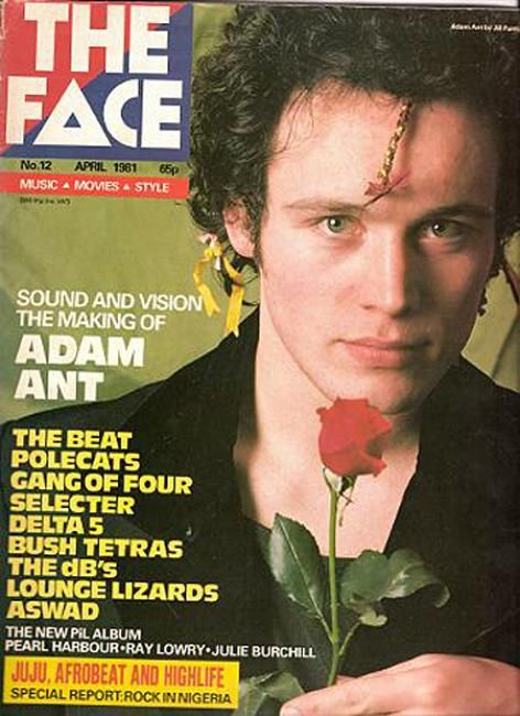 "cMag084 - The Face Magazine ""Adam Ant"" cover by Neville Brody / April 1981"