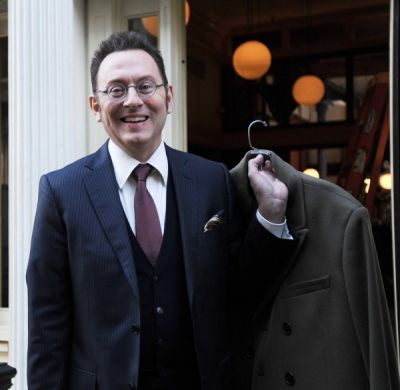 """Michael Emerson on the Set of """"Person of Interest""""; I loved him so much on LOST. I have been told by people who have worked with him that he is the nicest guy. I would love to meet him someday to get a pic with my Dr. Benjamin Linus."""
