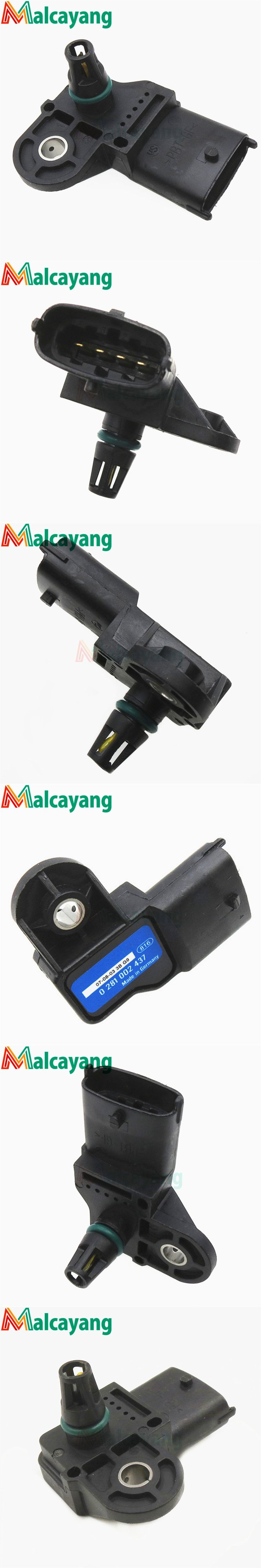 Newest 3 Bar Original Map Sensor For Fiat Multipla Sedici Stilo Croma Doblo Ducato Idea Punto 1.3 1.9 2.4 D 504088431 55206797