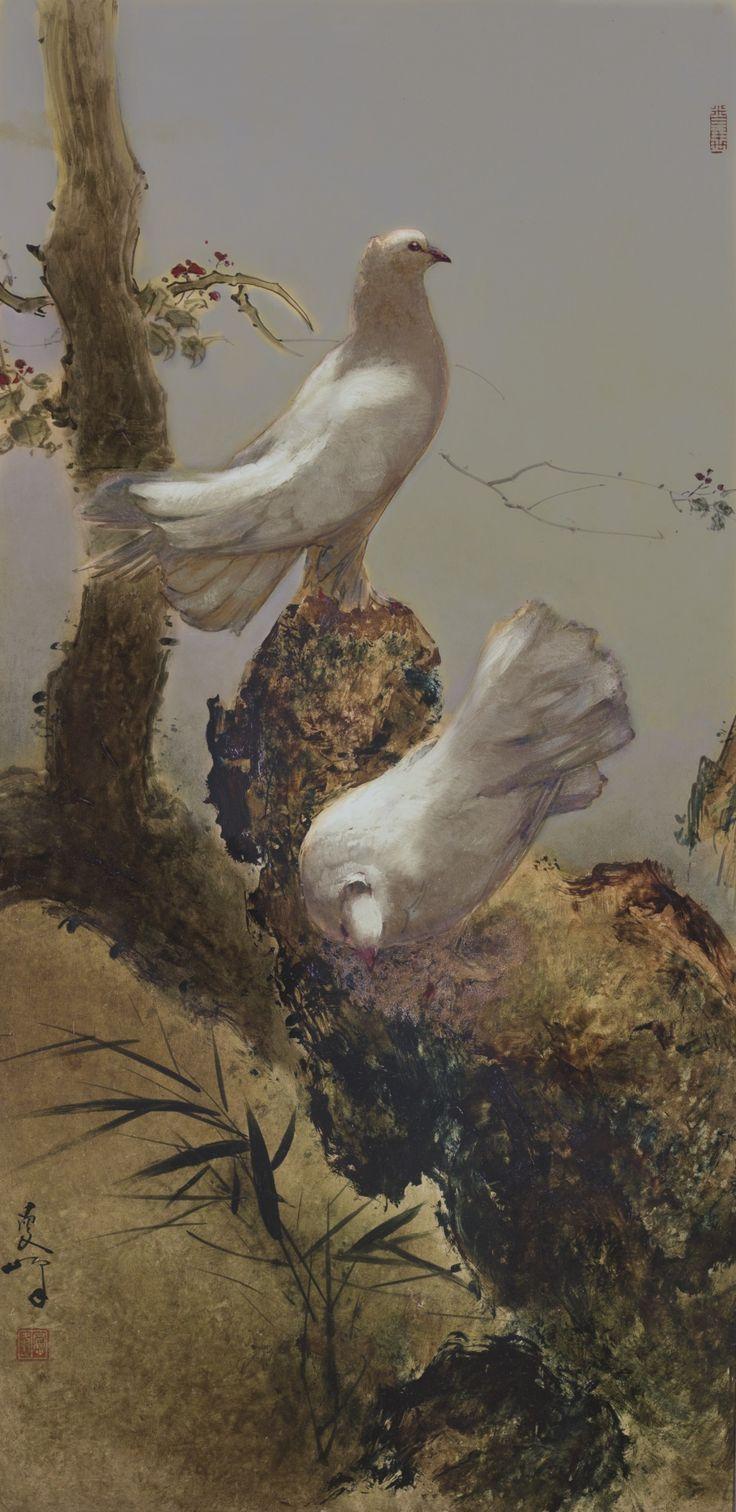 lee man fong doves | animals | sotheby's hk0632lot8t9wmen