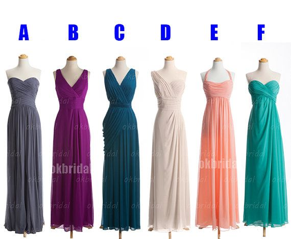 I like the idea of different styles.....long bridesmaid dresses cheap bridesmaid dresses by okbridal, $129.00