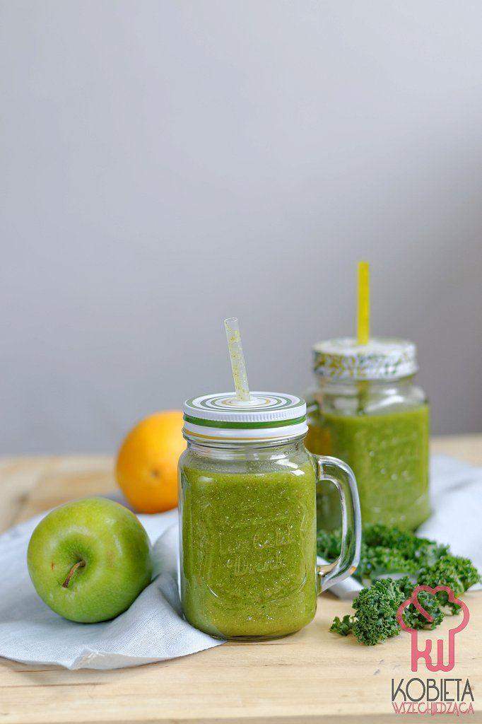 Zielone smoothie z jarmużem i chia